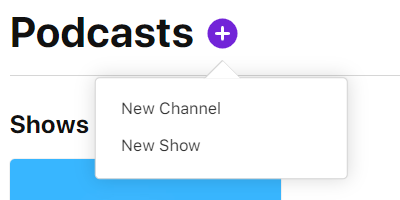 add a new show on apple podcasts through Firstory