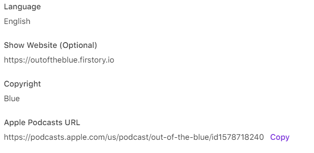 Apple Podcasts URL