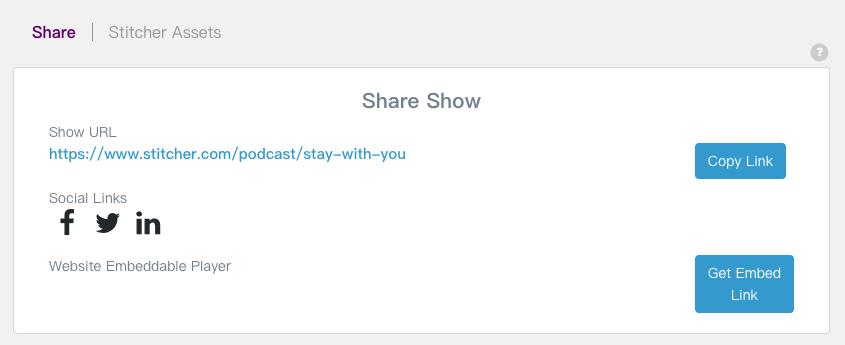 Stitcher podcast URL